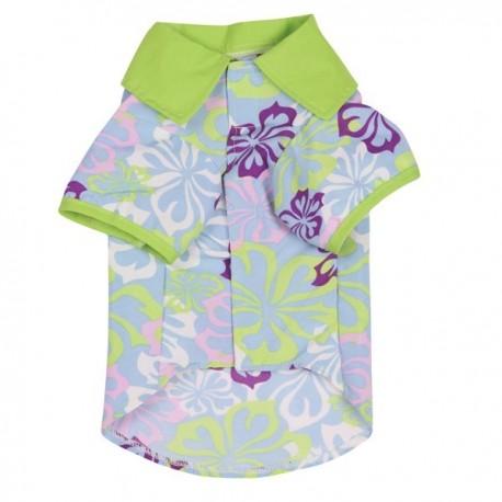 Zack & Zoey® Hibiscus Print Camp Shirt